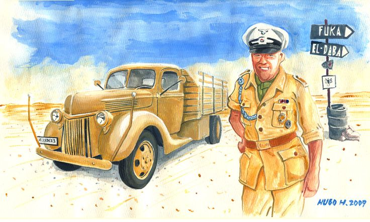 "Afrika Safari another WWII reenactor portraying an NCO from the""Ramcke"" Fallschirmjager Brigade w/ Rommel's  Afrika Korps"