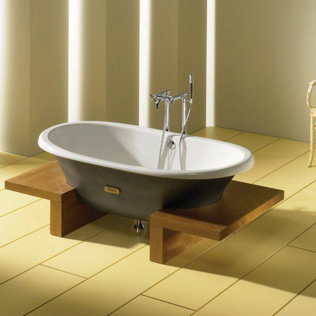 Les 863 meilleures images propos de salles de bains for Peindre une baignoire en fonte emaillee