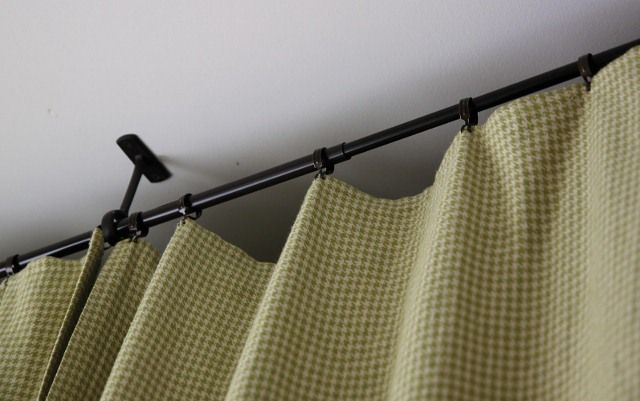 Clever Way To Hang Curtain Without Traditional Rod Diy