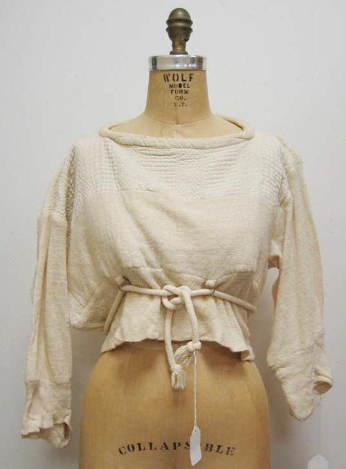 "Shirt, ""Buffalo Girls"" by Vivienne Westwood (British) ca. 1982 cotton, metal"