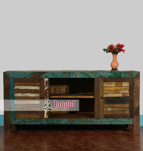 Indian Antique Reclaimed Wooden TV Cabinet. There is many Indian Reclaimed  Wood Furniture such as