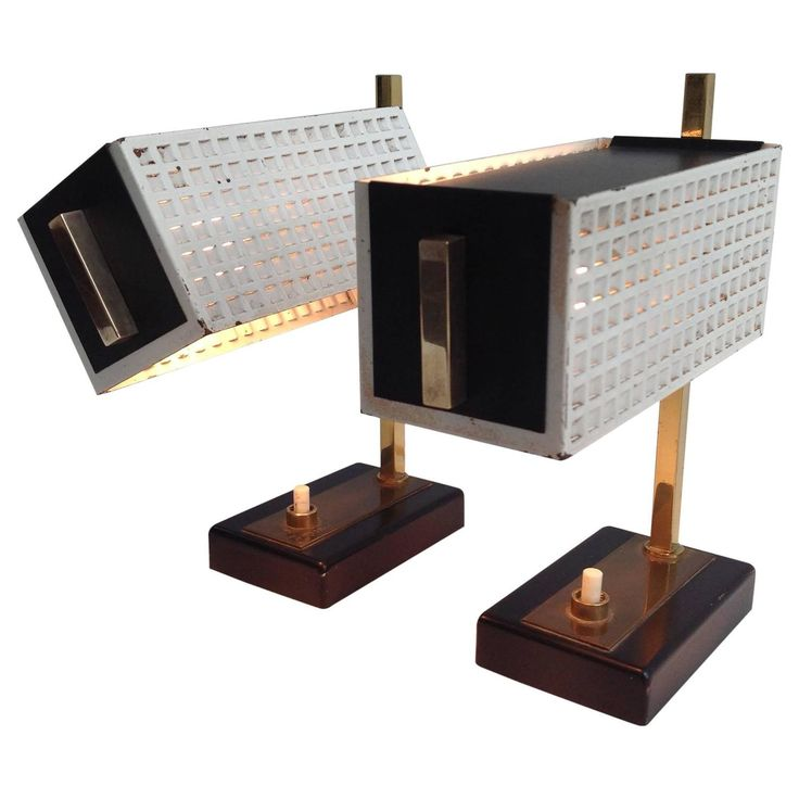 Two Small and Very Nice Night Table Lamps, in the Style of Mathieu Matégot