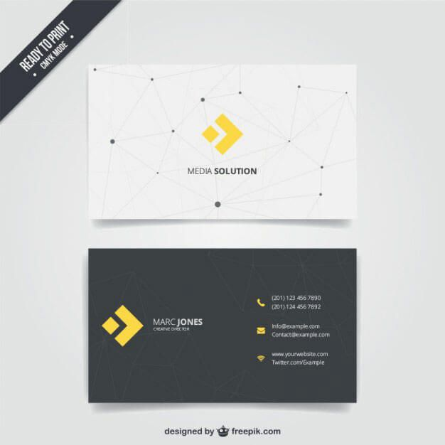 business-card-with-modern-line