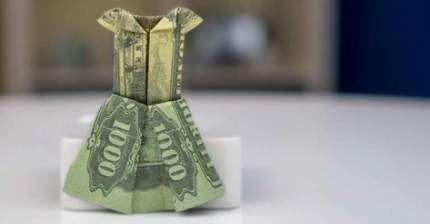 61+ Ideas Origami Wedding Dress Dollar Bills For 2019