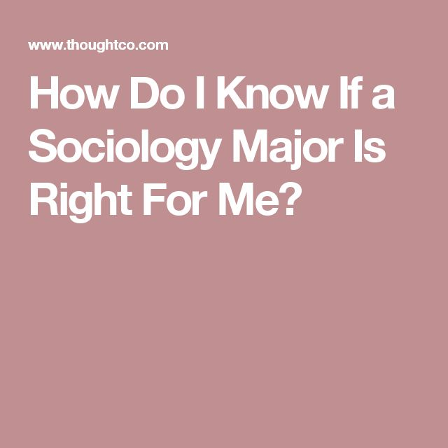 how to know what major is right for me