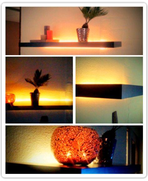 LED powered Lack shelf - IKEA Hackers