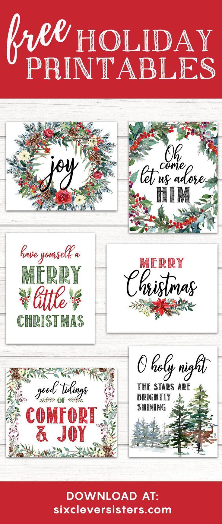 Free Printable Merry Christmas Banner - make your own Merry Christmas banner! Our floral evergreen design is the perfect rustic Christmas decor this season!