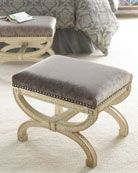 love these stools for foot of bed (x2) in master bedroom