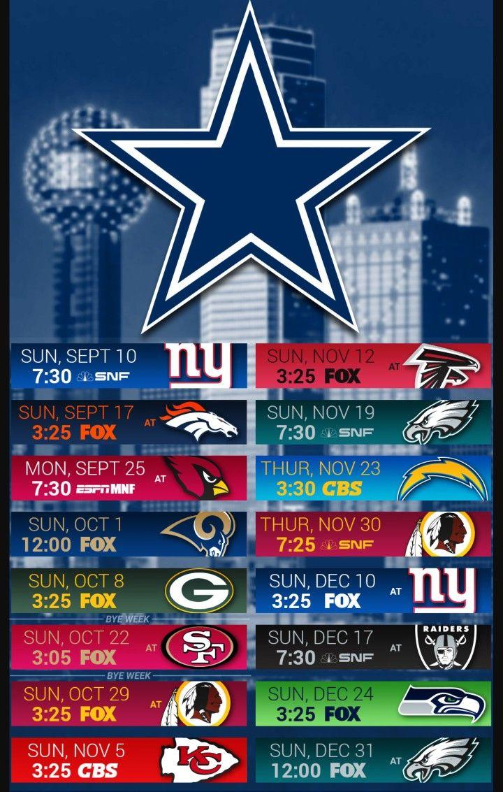 2017 Cowboys schedule