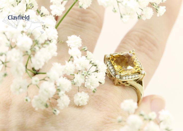 Bold citrine and diamond ring, by Clayfield Jewllery in Nundah Village North Brisbane
