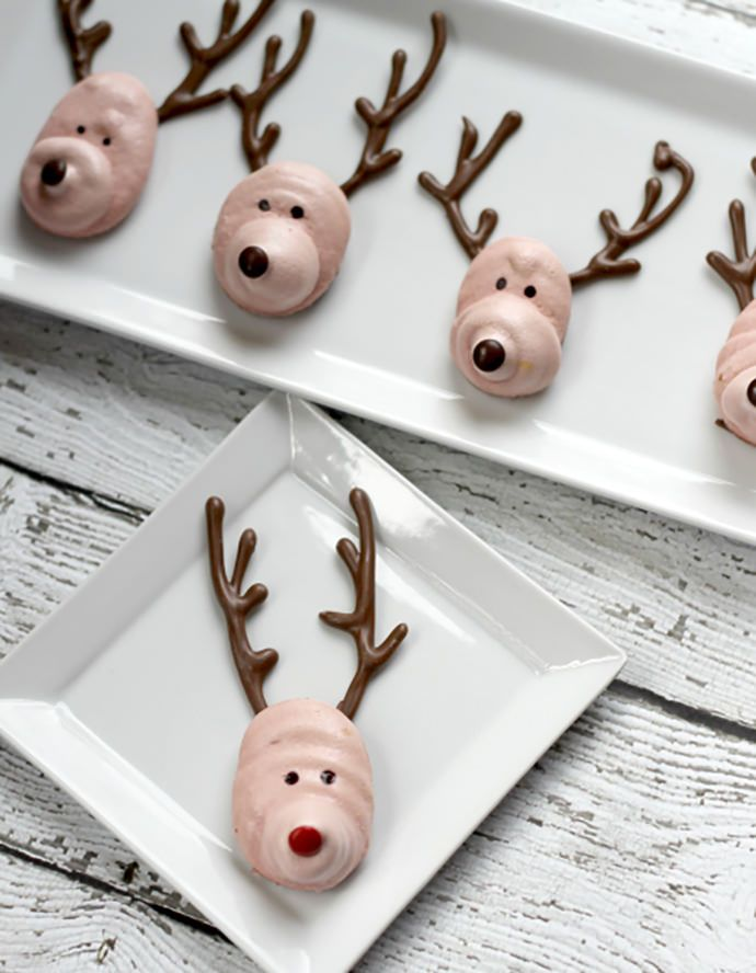 Meringue Reindeer Cookies