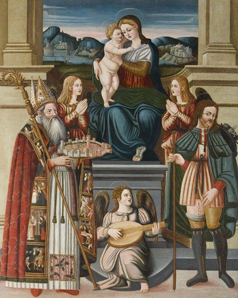 Giovanni Andrea de Magistris, Madonna col Bambino e i Santi Rocco e Romolo