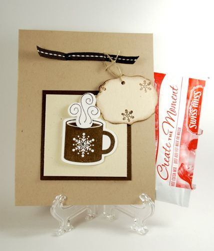 Hot Chocolate Handmade Hand Stamped Gift Pocket With Hot Chocolate  | cardsbylibe - Cards on ArtFire