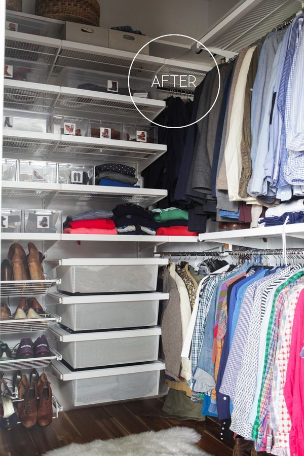 before and after my closet redo