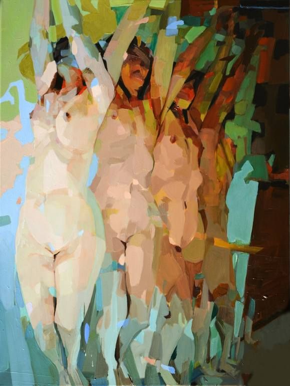 """The Silence of Animals,"" original figurative painting by artist to watch Melinda Matyas (UK). Read on: http://magazine.saatchiart.com/articles/artnews/saatchi-art-news/one-to-watch/melinda-matyas"