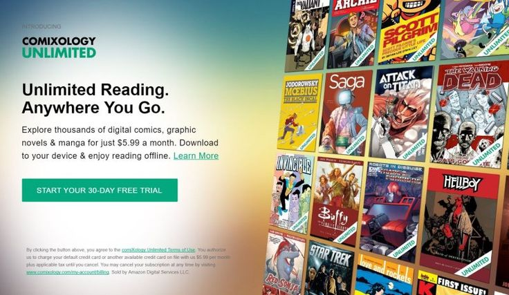 Comixology Launches Digital Comics Subscription Service by Mike Ferreira