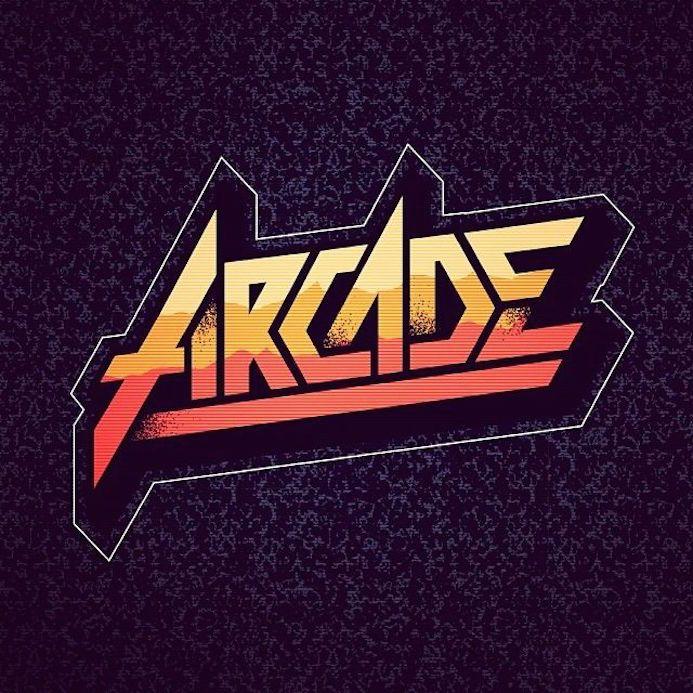 arcade typo retro