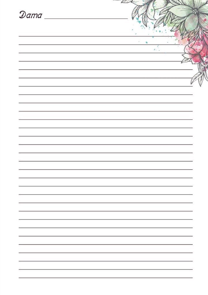 3903 best Stationary images on Pinterest Writing papers, Writing - printable lined notebook paper