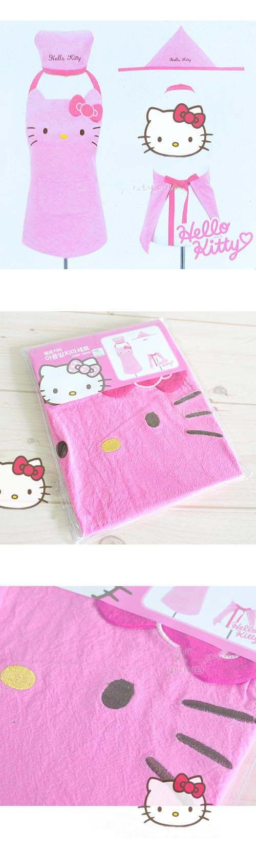 Unique Design Hello Kitty Apron Delicate Housewife Apron Coffee Shop Apron Baking Apron for Sales Girl