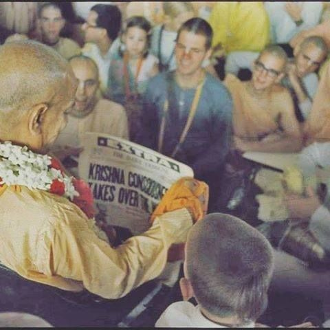 The Story Behind The Picture.  Patita Pavana dasa: It was 1971 or 1972, I had been out on the streets of New York City all day preaching, selling books, collecting and generally spreading the bless…