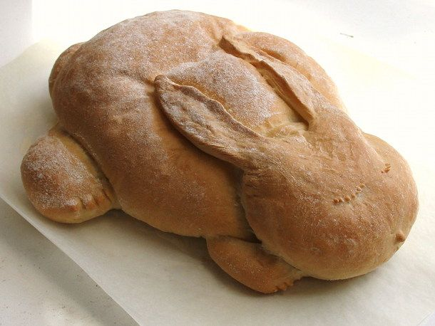 Bread bunny. It's perfect for Easter and springtime