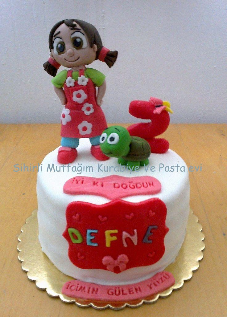 Niloya Doğum günü pastası , nil oya kaplumbağa doğum günü pastası