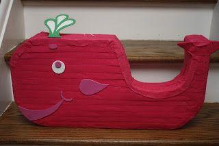 Whale Piñata, Preppy Whale Birthday Party