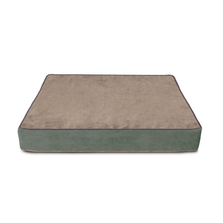 Buddy Beds Luxury Dog Beds Beach Blue Cover Side1:  Sand with Slate Blue Piping