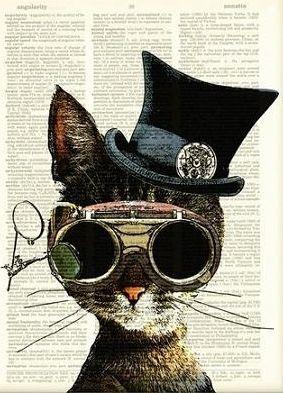 Cat; illustration on print