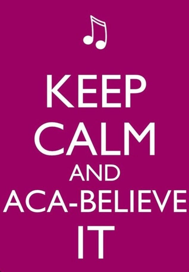Pitch Perfect❤ Haha I think this is the ONLYY keep calm poster I have EVER liked!:D