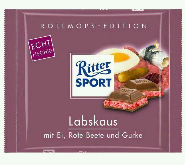 Labskaus | Ritter sport, Ritter sport schokolade, Ritter