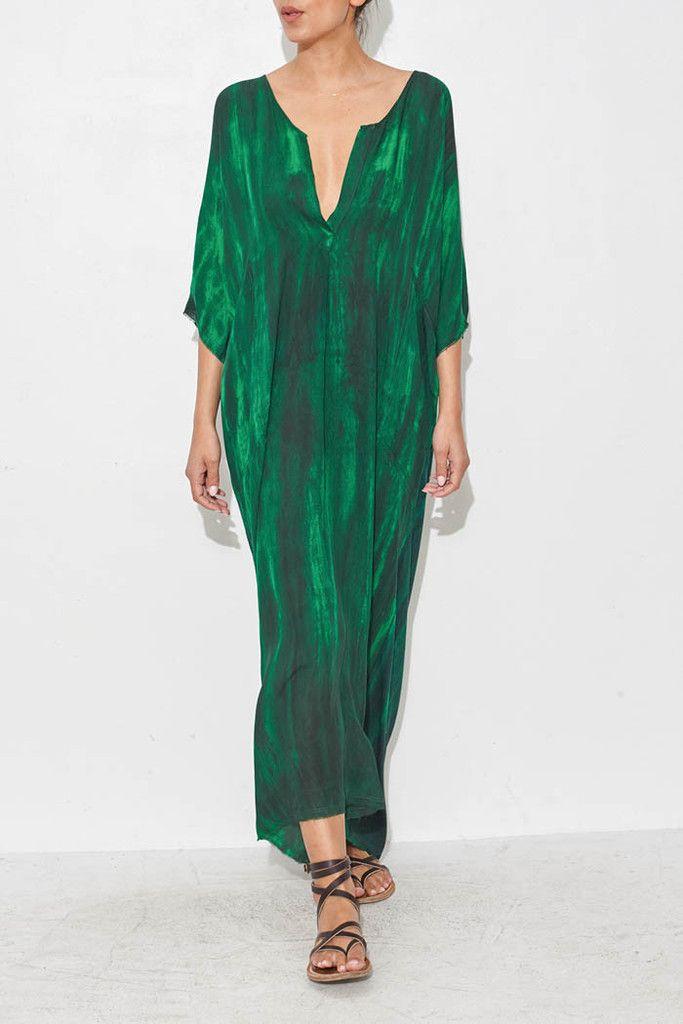 Green Caftan Dress From ShopHeist.com!