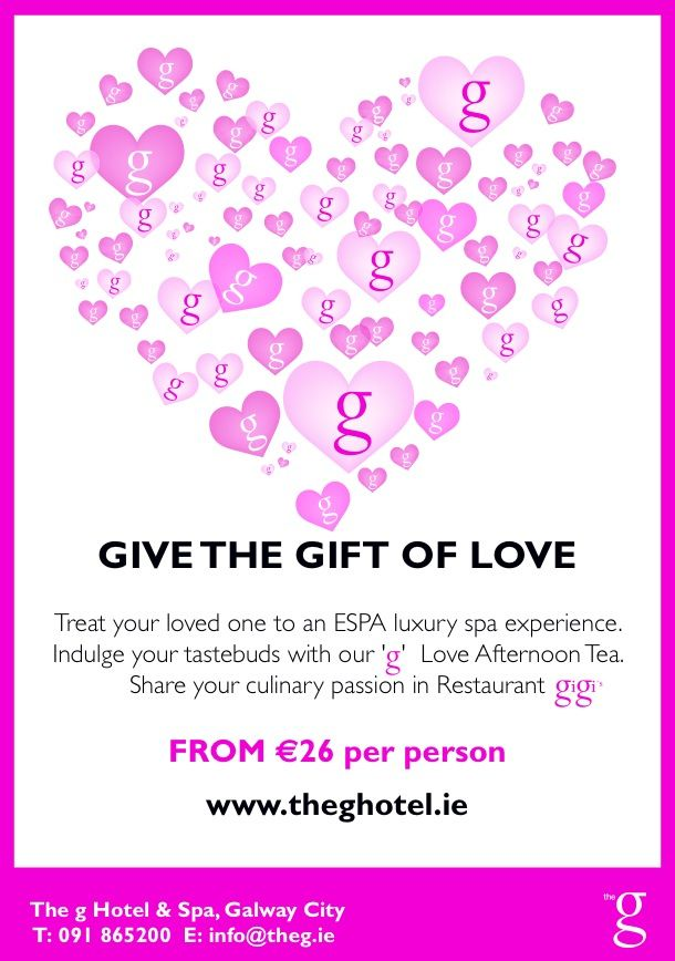Give the Gift of Love. www.theghotel.ie