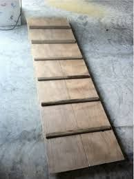 wooden ramp for the dog