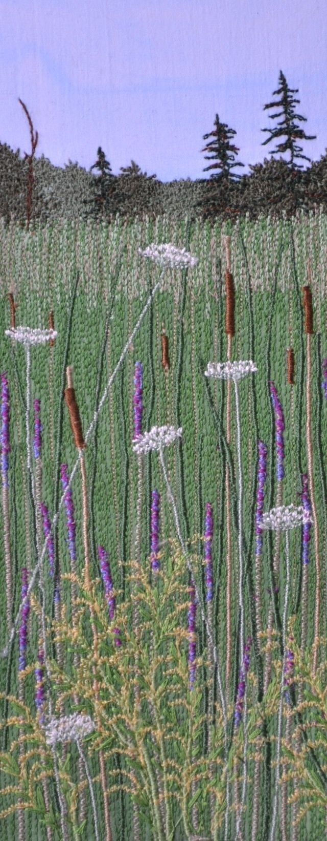 South March Highlands pictures exhibited in the Glebe fine art show   Judi Miller   September 2012   #stitched #needlework