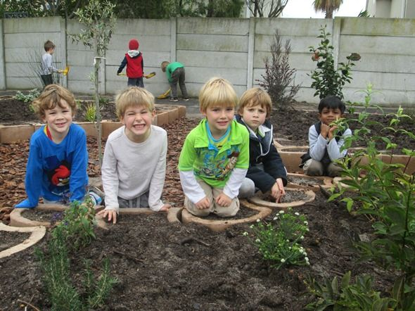 Pre-primary pupils have been hard at work helping to cultivate the Sensory Garden, a new feature at the Blouberg Preparatory campus.