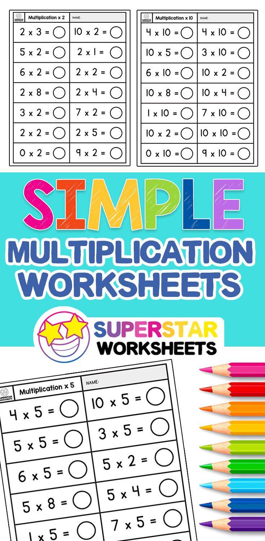 Simple Multiplication Worksheets Simple Multiplic Printable Multiplication Worksheets Multiplication Facts Worksheets Free Printable Multiplication Worksheets [ 1500 x 735 Pixel ]