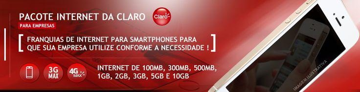 Pacote de internet da Claro para celulares e smartphones : Internet 4G ILIMITADA Claro com vários planos e pacotes de internet para empresas. Ligue (11) 2823-6823 #claro #claroempresas