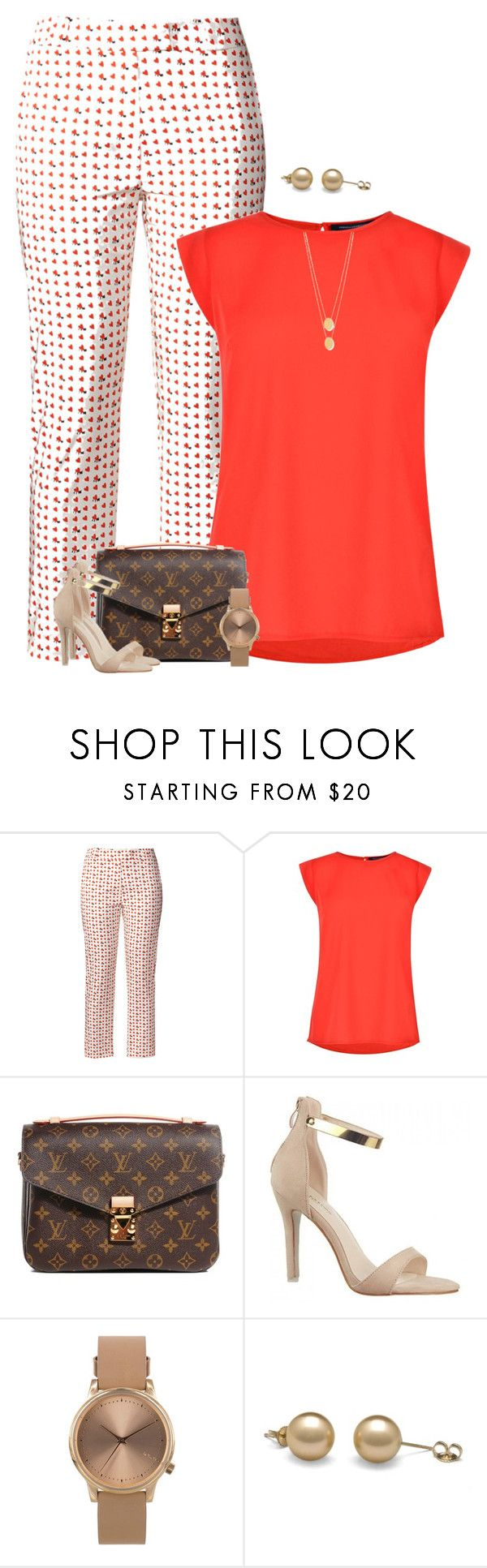 """""""Patterned Trousers"""" by majezy ❤ liked on Polyvore featuring Orla Kiely, French Connection, Louis Vuitton, Topshop and Jennifer Zeuner"""