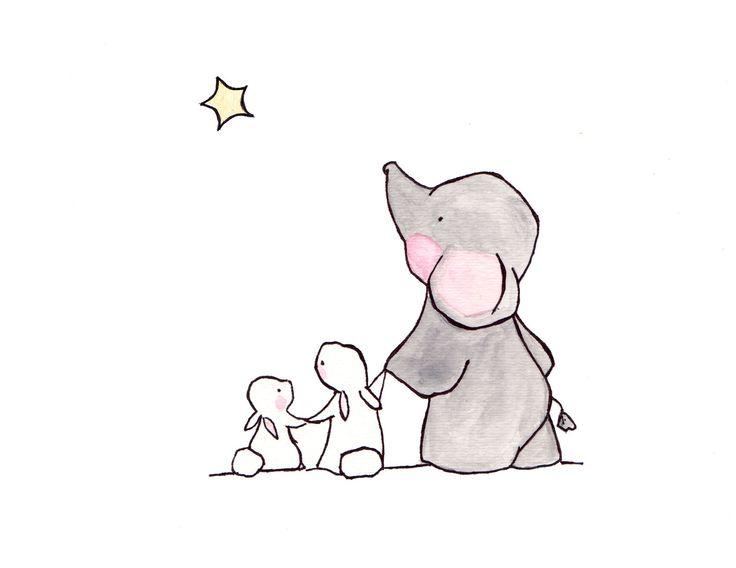 Twinkle Twinkle Little Star 8x10 archival print, elephant nursery, childrens art, kids room decor, kids wall art, child decor, baby art by ohhellodear on Etsy https://www.etsy.com/listing/105649058/twinkle-twinkle-little-star-8x10
