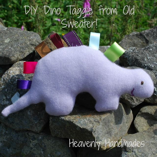 Heavenly Handmades: DIY Taggie Dino from an Old Sweater!