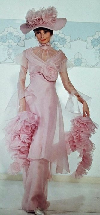 Remove the giant flower and add a little for a train... Audrey Hepburn in 'My Fair Lady' -- Costume Designer: Cecil Beaton