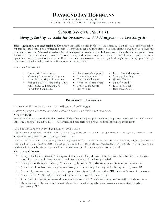 Personal Banker Sample Resume Download Our Of Entry Level