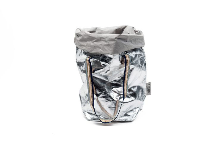Carry Two Metallic Silver