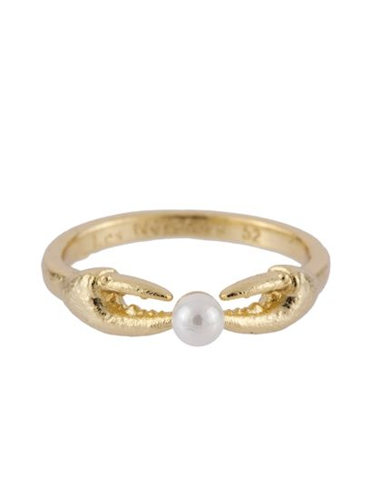 ATLANTIDE CRAB'S PINCERS AND PEARL RING | Les Néréides