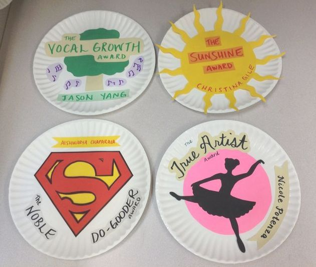 The great part about working in a group is that each individual brings their own set of strengths and talents. Recognize your Club members for their unique and special contributions by making Paper Plate Awards and giving them out at your last meeting of the year or end of year celebration. Your Club members will feel proud of their service to the Club as will as the greater community, and excited to continue their service work next year! Examples: