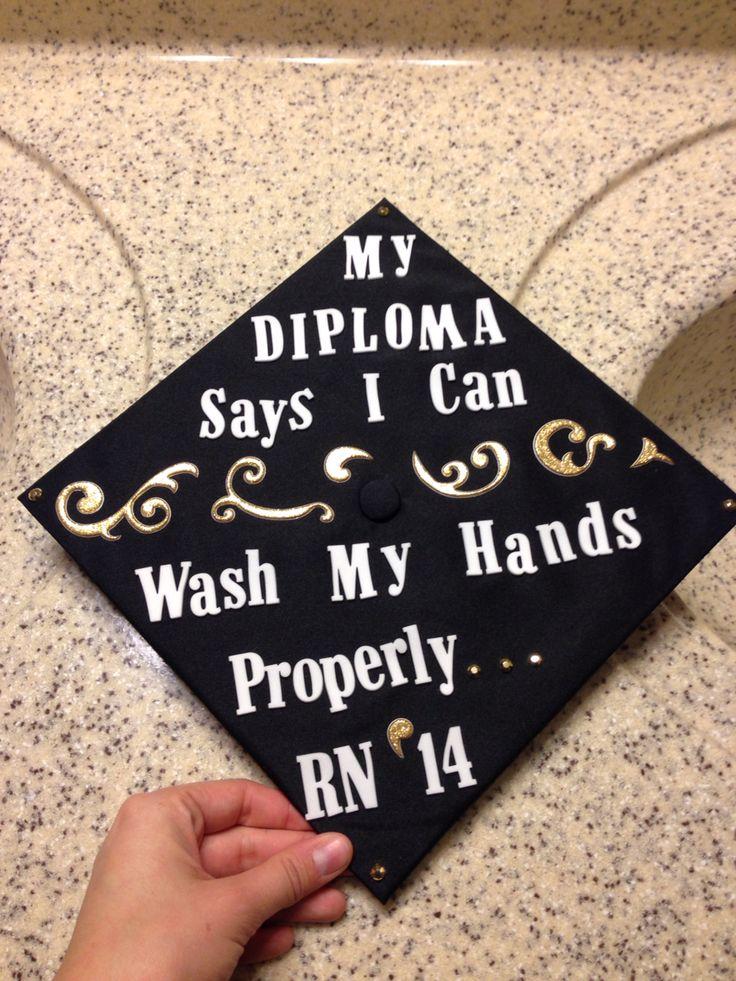RN LPN Graduation cap design decoration saying quote.