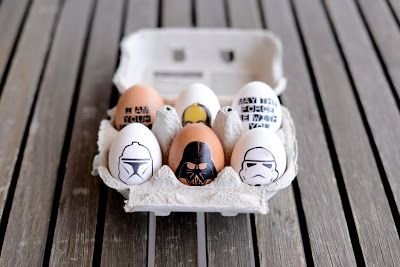 Easter eggs - Seems like the best way to get crisp clean images is to use temporary tattoo printer paper Star Wars Easter eggs