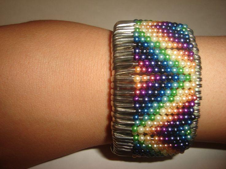 safety pin chevron bracelet  made by foroshgahehonari  sepide sobhdam