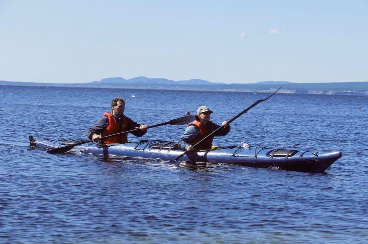 Kayak et canotage. Photo : Jean-Pierre Huard.